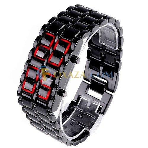4ecb58d6e0df4cdc29be54490ba656a1 LED Watch   Stylish Ferreous watch with Red LED for Man black
